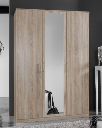 Venice Oak Effect 3 Door Wardrobe - 2377